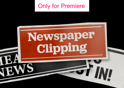 Newspaper Clippings Motion Graphics Template for Premiere Pro