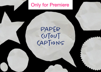 Paper Captions Motion Graphics Template for Premiere Pro