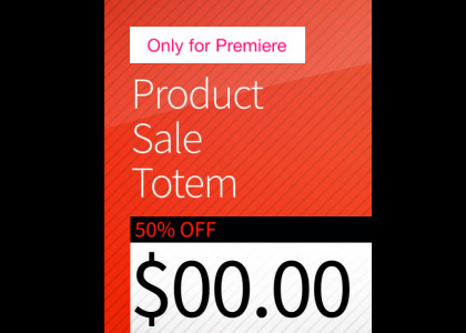 Product Sale Motion Graphics Template for Premiere Pro