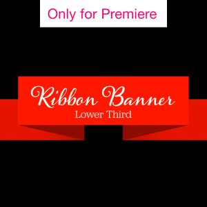 Ribbon Banner Titles Motion Graphics Template for Premiere Pro