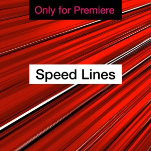 Speed Lines Anime Background Motion Graphics Template for Premiere Pro