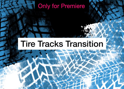 Tire Tracks Transition Motion Graphics Template for Premiere Pro