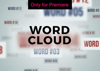 Word Cloud Motion Graphics Template for Premiere Pro