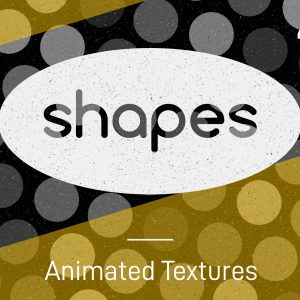 Animated shapes stop-frame motion textures pack