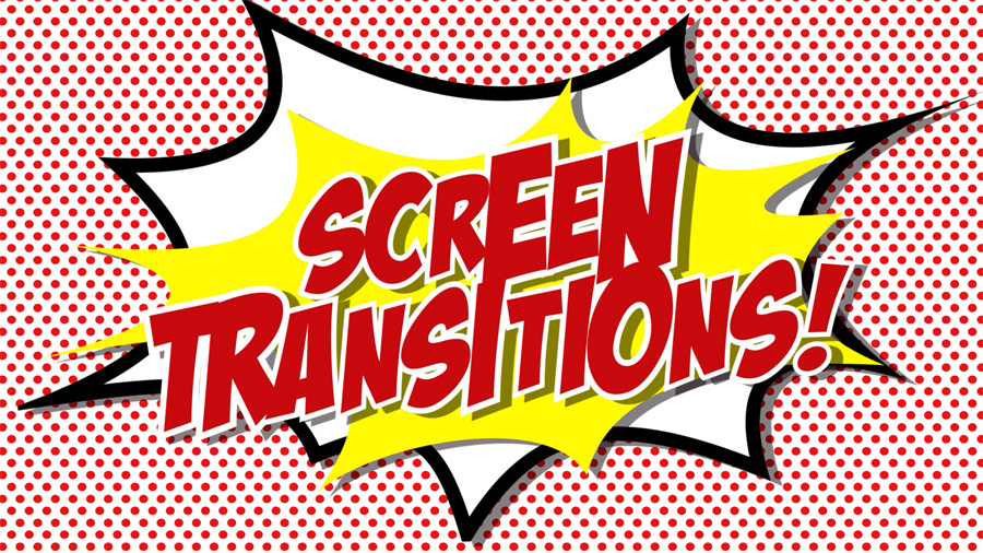 Comic book cartoon flash motion graphics transition full screen