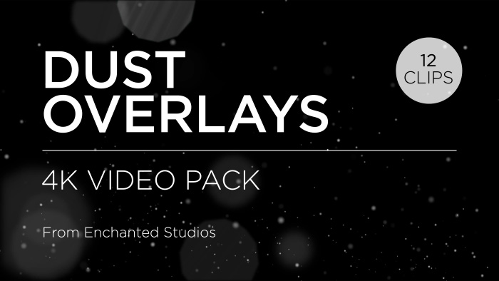 Dust particle effect overlay pack title