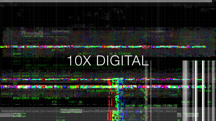 Glitch effect video overlays transition pack digital