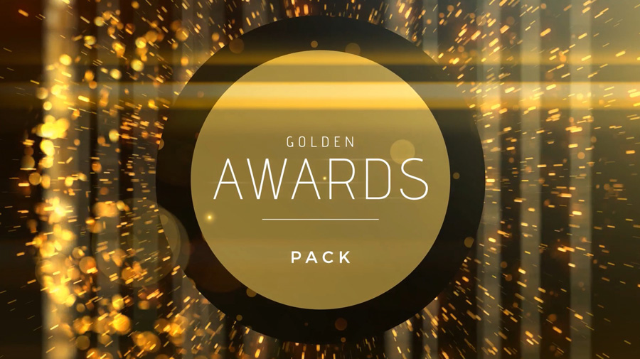 Golden awards ceremony video template for After Effects