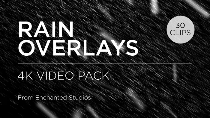 Rain particle effect overlay pack title