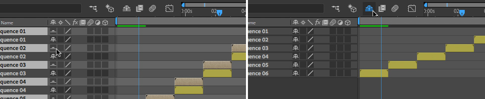 02 How to Hide Layers with the Shy Switch in After Effects