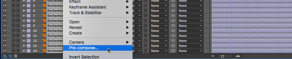 04 How to Group Objects with PreCompose in After Effects