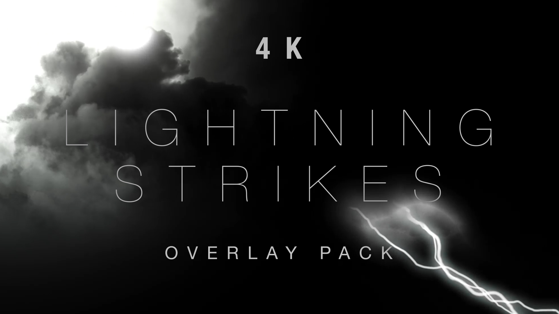 Lightning Strike Overlays Still HD