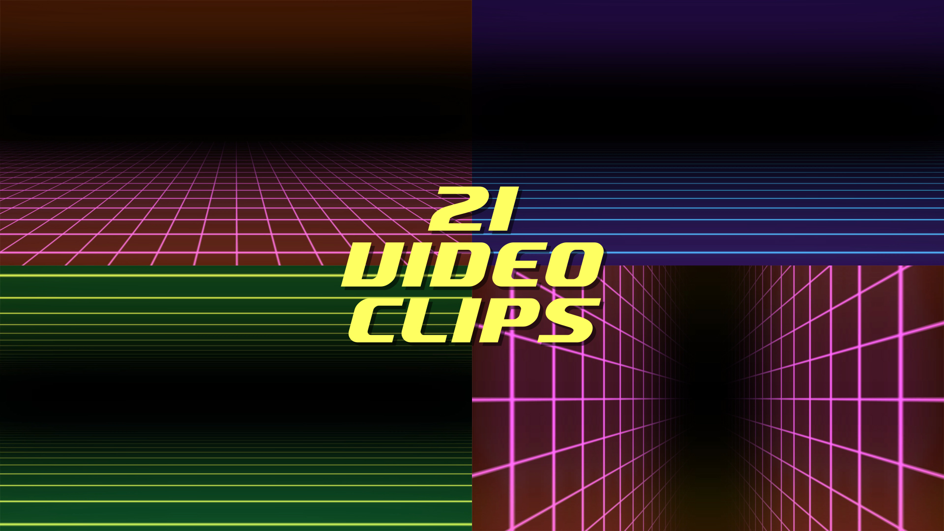80s Grid Background Animations Pack Stock Footage 1