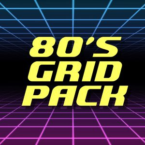 80s Grid Background Animations Pack Stock Footage Feature
