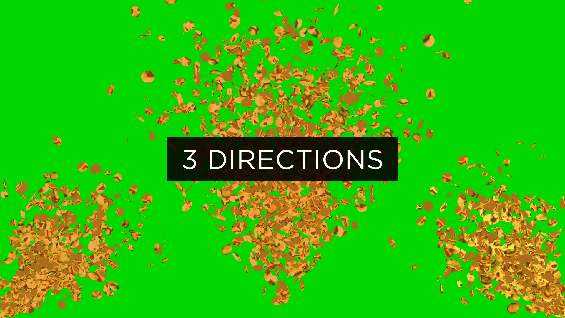 Gold Confetti Overlay Pack 4K Stock Footage 3
