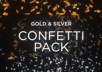 Gold Confetti Overlay Pack 4K Stock Footage Feature