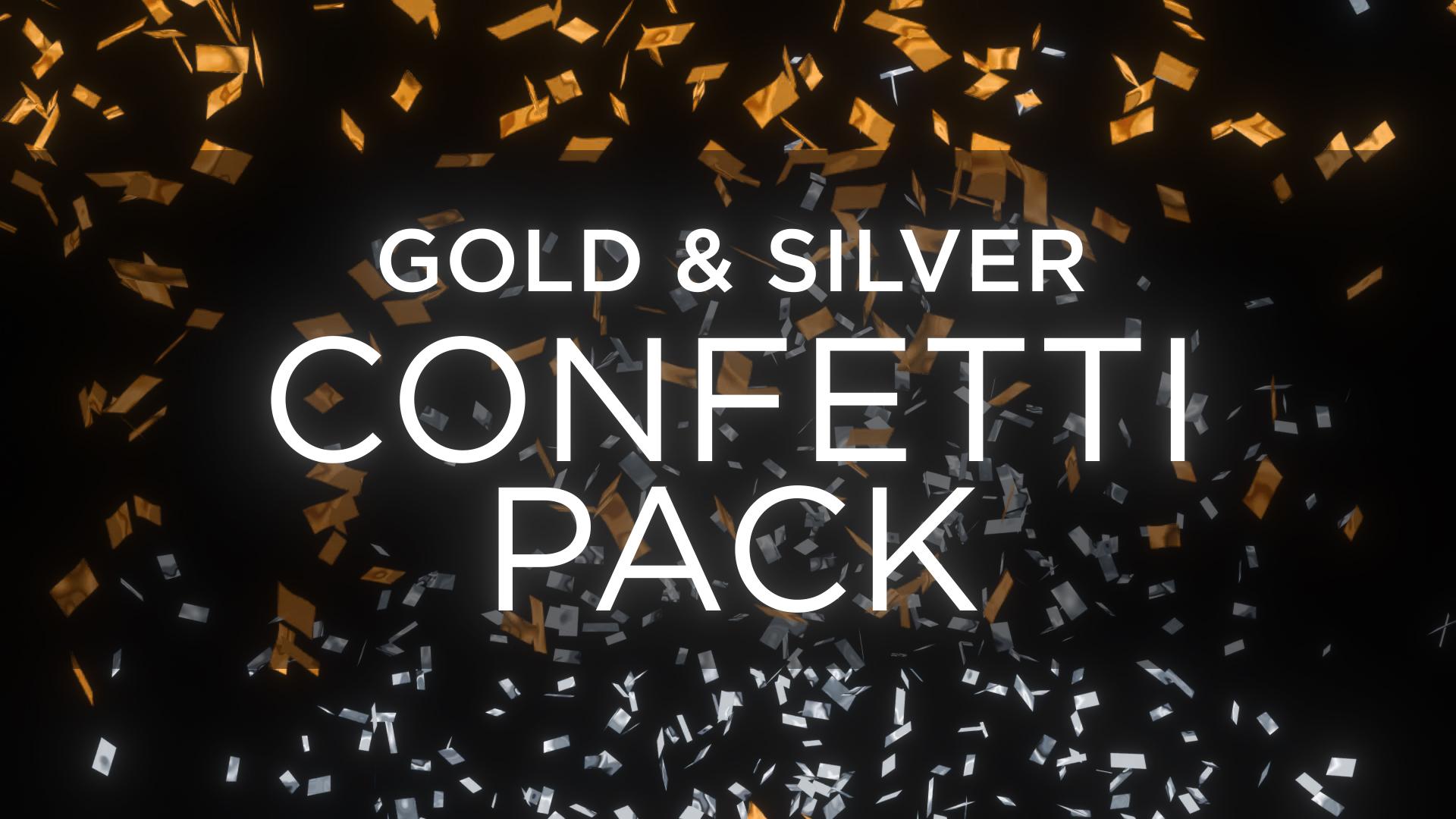 Gold Confetti Overlay Pack 4K Stock Footage Still HD