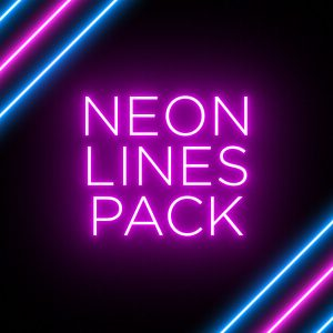 Neon Line Background Animation Stock Footage Pack Feature