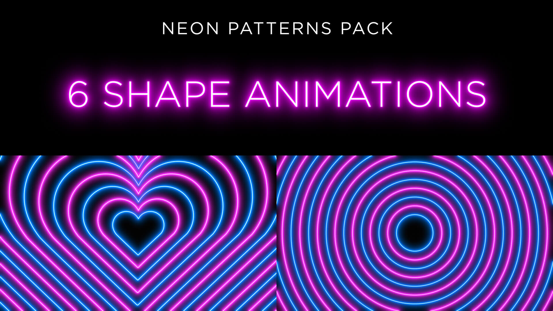Neon Radial Pattern Animation Stock Footage Pack 1