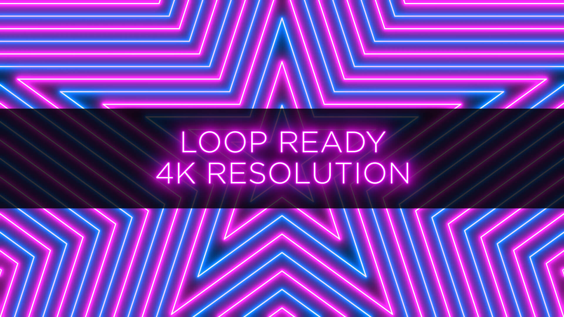 Neon Radial Pattern Animation Stock Footage Pack 3