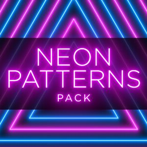 Neon Radial Pattern Animation Stock Footage Pack Feature