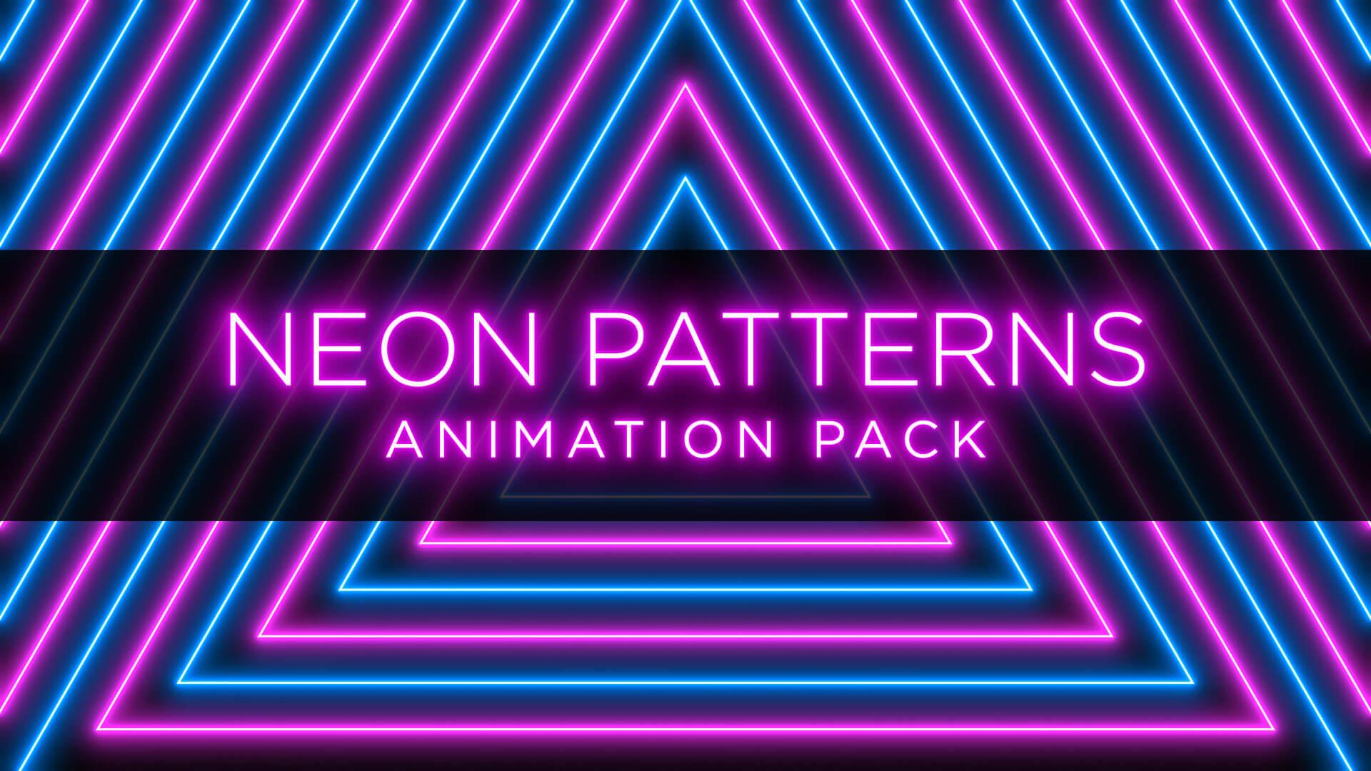 Neon Radial Pattern Animation Stock Footage Pack Still HD