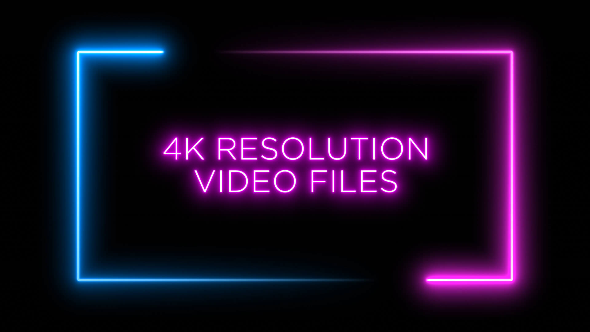 Neon Shape Frame Animation Stock Footage Pack 2