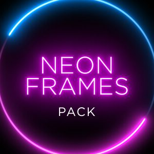 Neon Shape Frame Animation Stock Footage Pack Feature