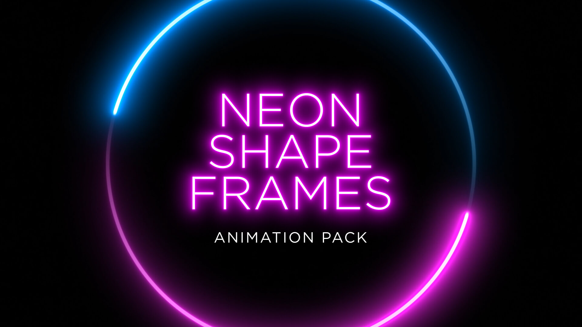 Neon Shape Frame Animation Stock Footage Pack Still HD