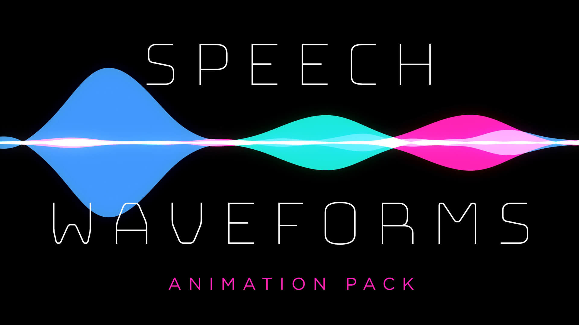 Speech Waveform Animation Stock Footage Pack HD