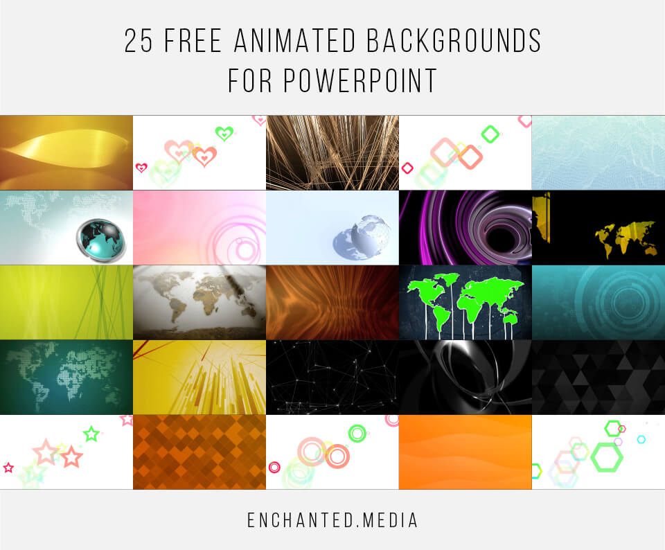 25 Free Animated Backgrounds for Powerpoint Grid