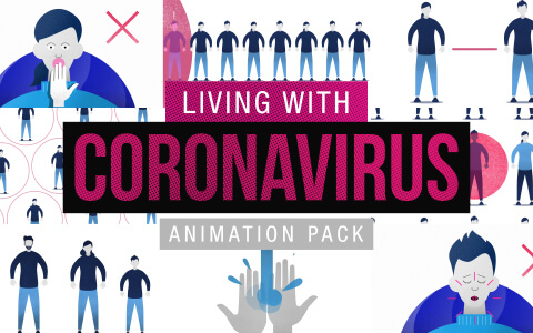 Living With Coronavirus Stock Footage Animations FEATURE
