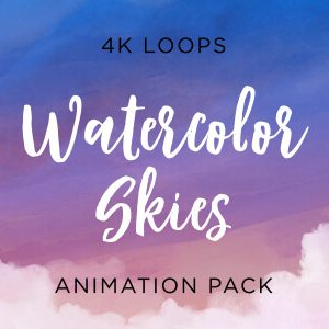 Watercolor Skies Animated Background Pack Feature