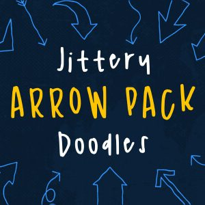 Jittery Doodle Graphics - Arrows Pack - Animation FX Feature