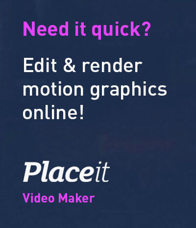 Edit Motion Graphics Online with PlaceIt