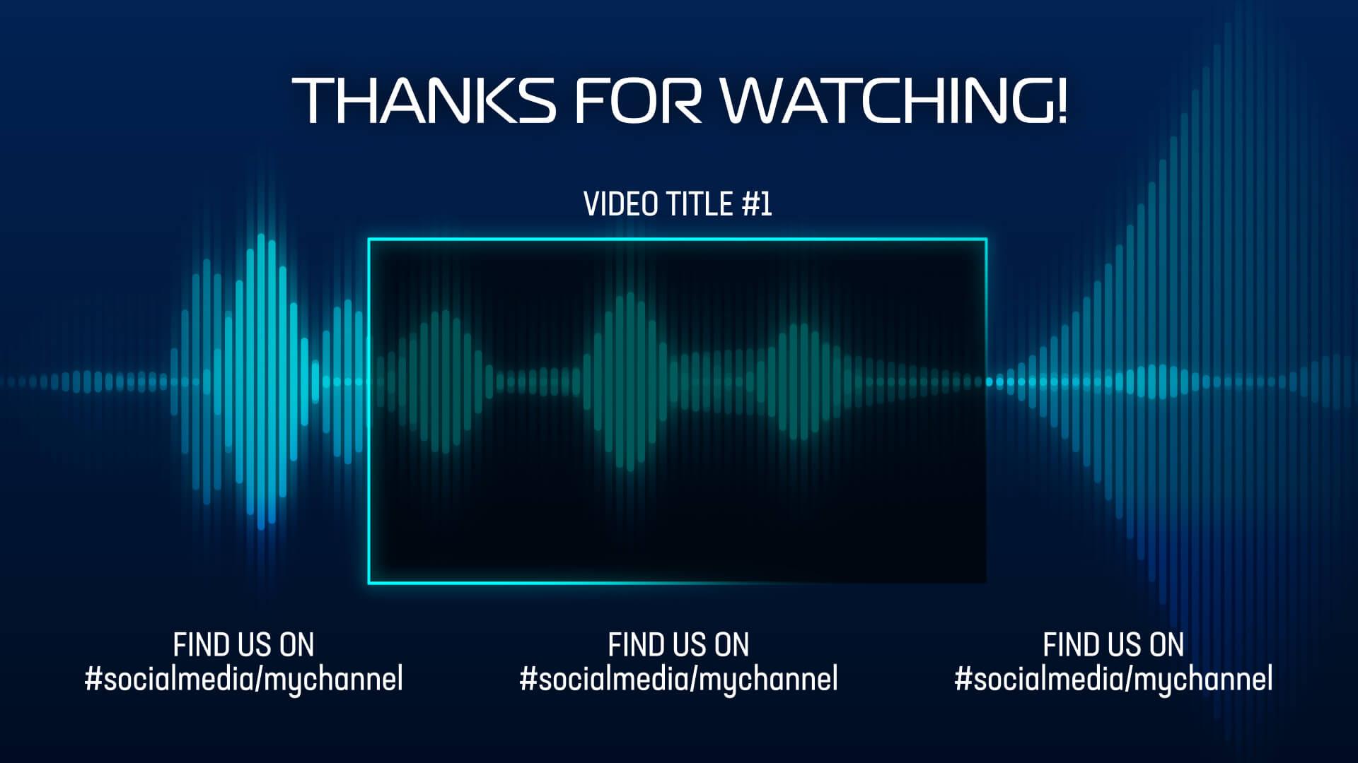 Audio Waveform Animation End Card Premier Pro Template