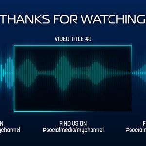 Audio Waveform Animation End Card Premier Pro Template