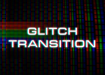 Full Screen Glitch Transition With Text Premier Pro Template