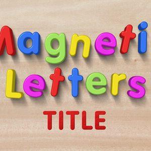 Kids Magnetic Letters Title Premier Pro Template