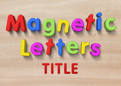 Kids Magnetic Letters Title Premier Pro Template
