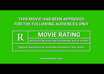Movie Trailer Rating Screen Title Premier Pro Template
