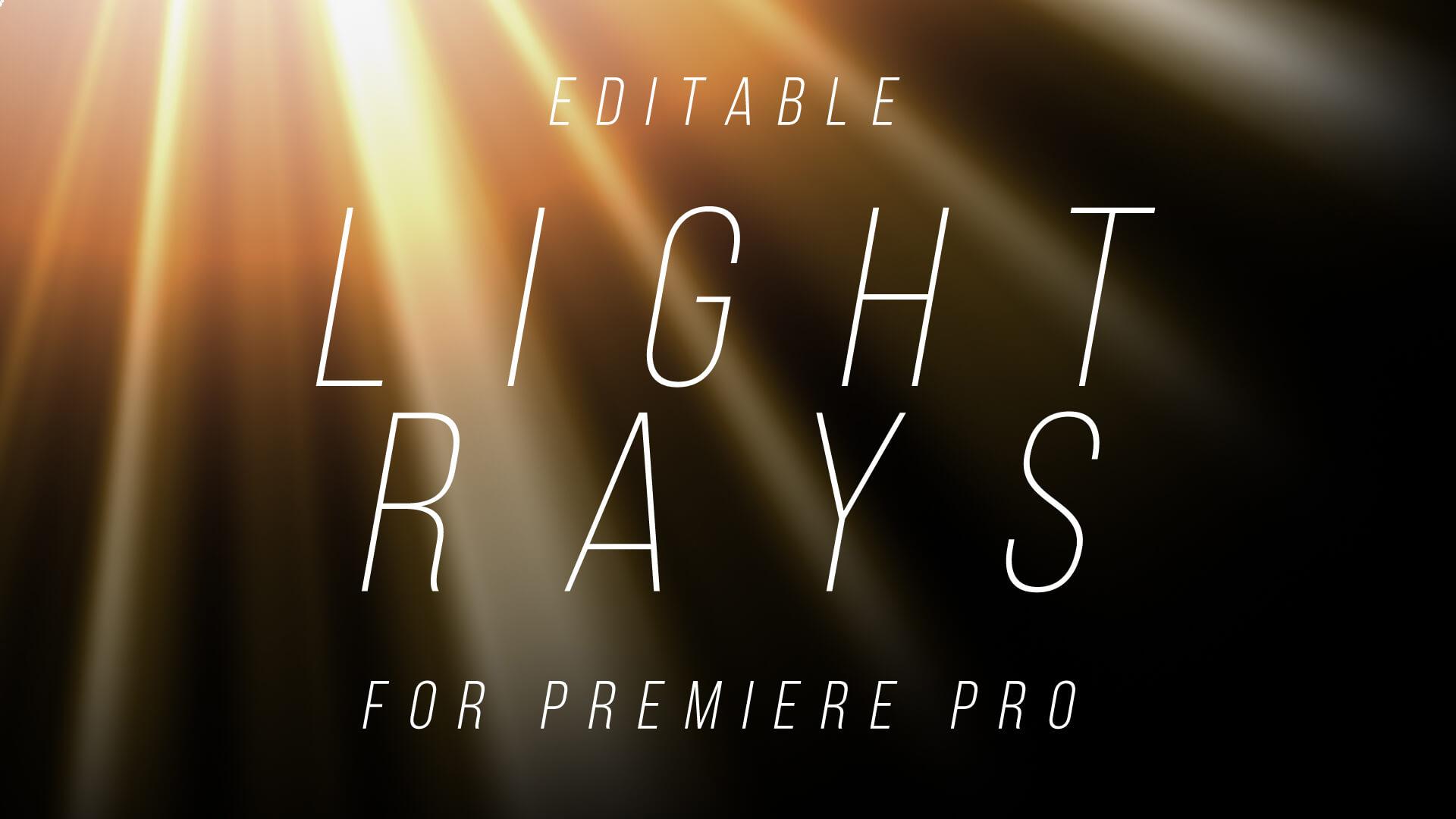 Radial Light Rays Overlay Premier Pro Template