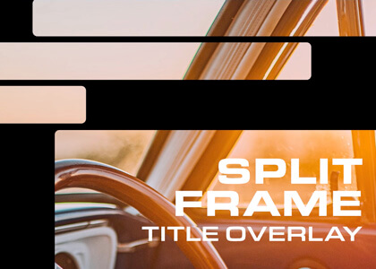 Retro Split Frame Title Overlay Premier Pro Template