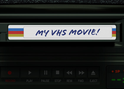 Video Cassette Tape Insert Title Premier Pro Template