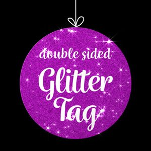 Double Sided Glitter Tag Overlay Premier Pro MOGRT Feature