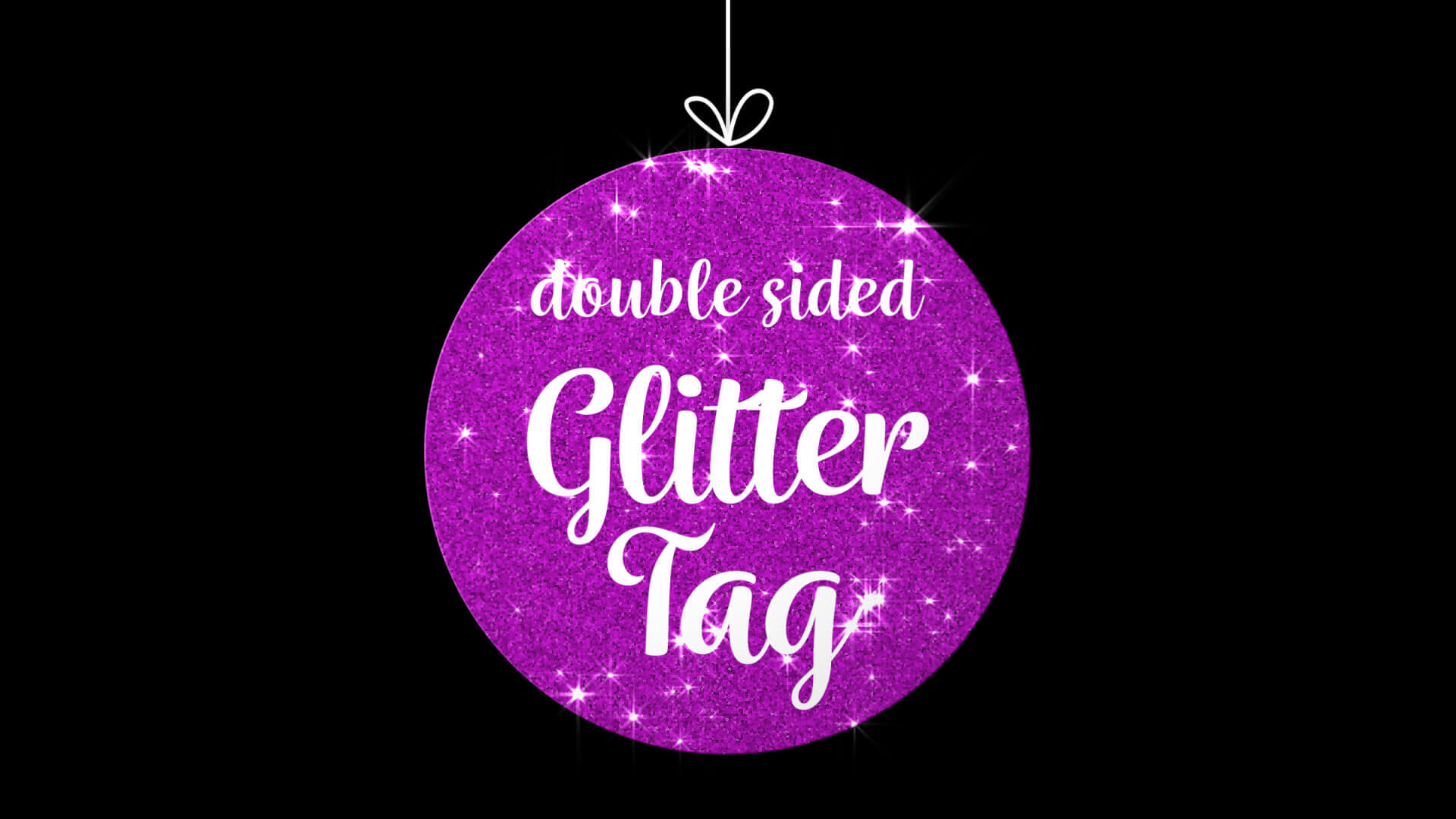 Double Sided Glitter Tag Overlay Premier Pro MOGRT Template