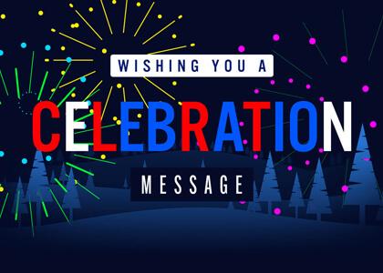 Fireworks Celebration Message Title Premier Pro MOGRT Feature