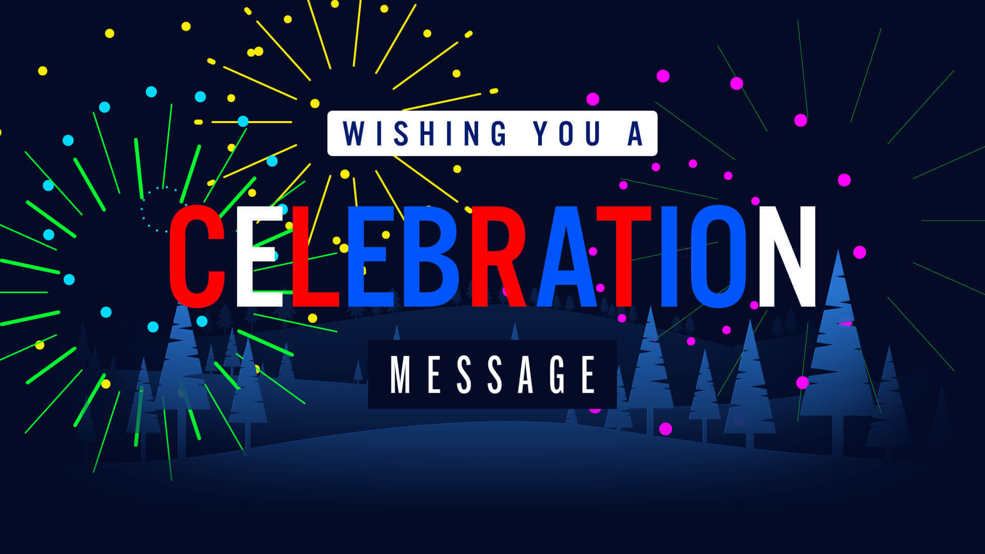 Fireworks Celebration Message Title Premier Pro MOGRT Template