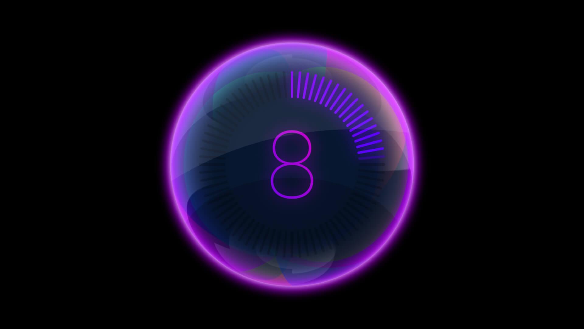 Glass Ball 10 Second Countdown Overlay Premier Pro MOGRT Template