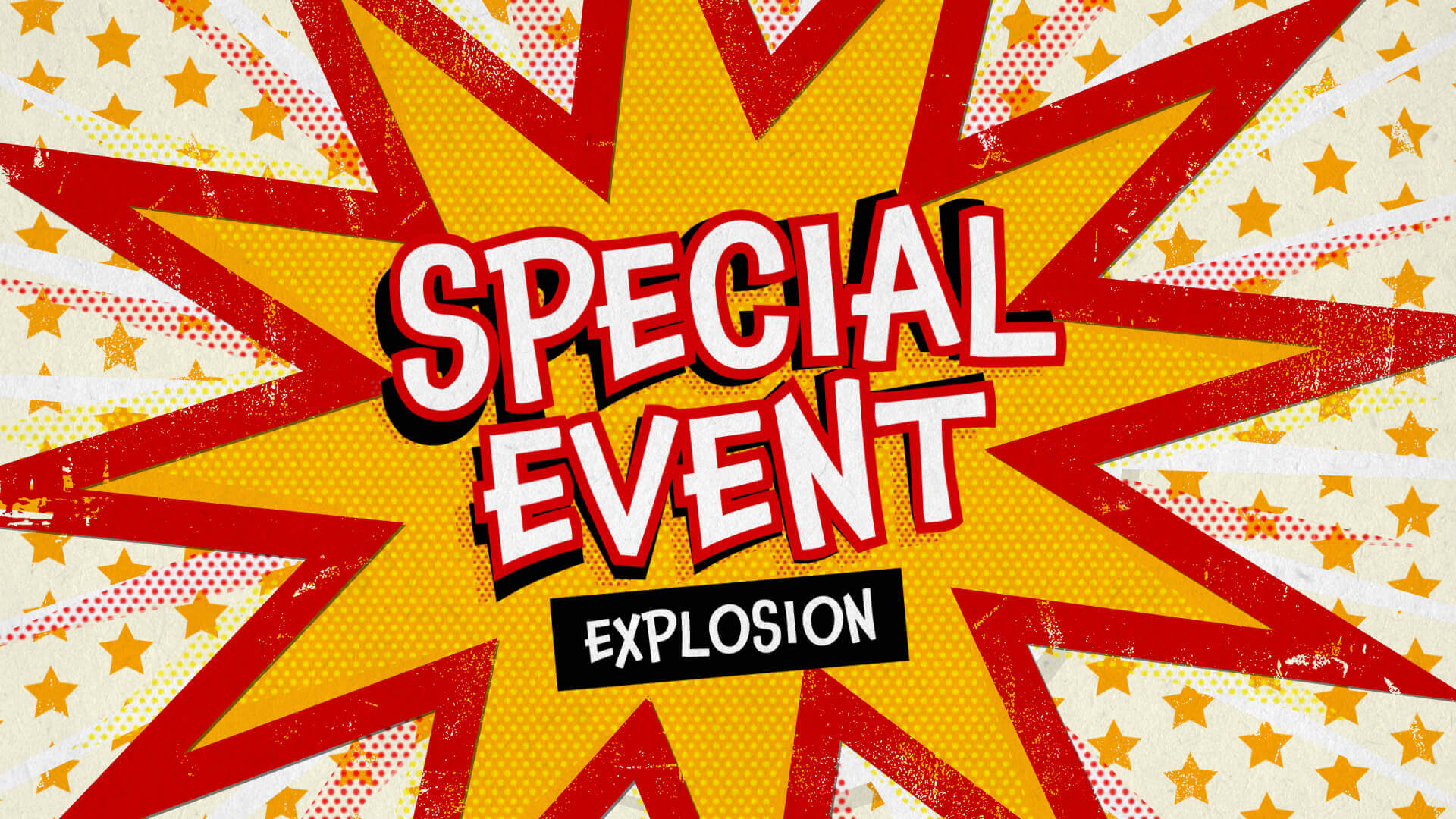 Special Event Pop Out Message Title Premier Pro MOGRT Template